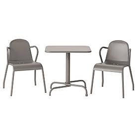 IKEA TUNHOLMEN (390.484.21) Стол + 2 стула, снаружи, серый