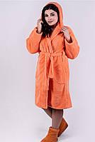 Короткий  пушистый махровый халат