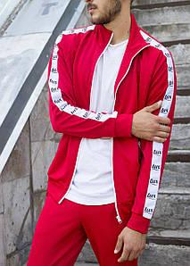 Мастёрка, олимпийка, мужская спортивная кофта Smoke (Смок) красного цвета