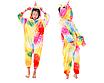 Кигуруми пижама детская единорог желтый звезды 130 см, фото 2