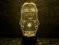 """Сменная пластина для 3D светильников  """"Миньон 2"""" 3DTOYSLAMP"""