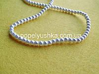 Перлини скляні  4 мм Білі (50 шт.)