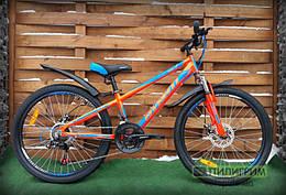 """Велосипед 24"""" Avanti Rider Disc оранжево-синий"""