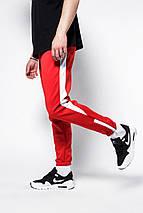 Штаны спортивные Rocky (Рокки) красные с белой вставкой, фото 2