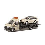 "Трейлер метал. ""BBURAGO"" Автоперевозчик ""VW POLO GTI MARK 5"", в кор.22*9*6см (12шт)"