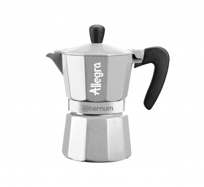 Гейзерная кофеварка Bialetti Allegra Aeternum Silver (6 чашек - 170 мл)