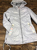 Куртка удлиненная с капюшоном(весна/осень)
