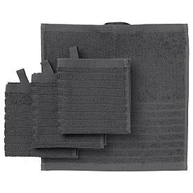 IKEA VAGSJON (403.536.22) Полотенце, темно-серый