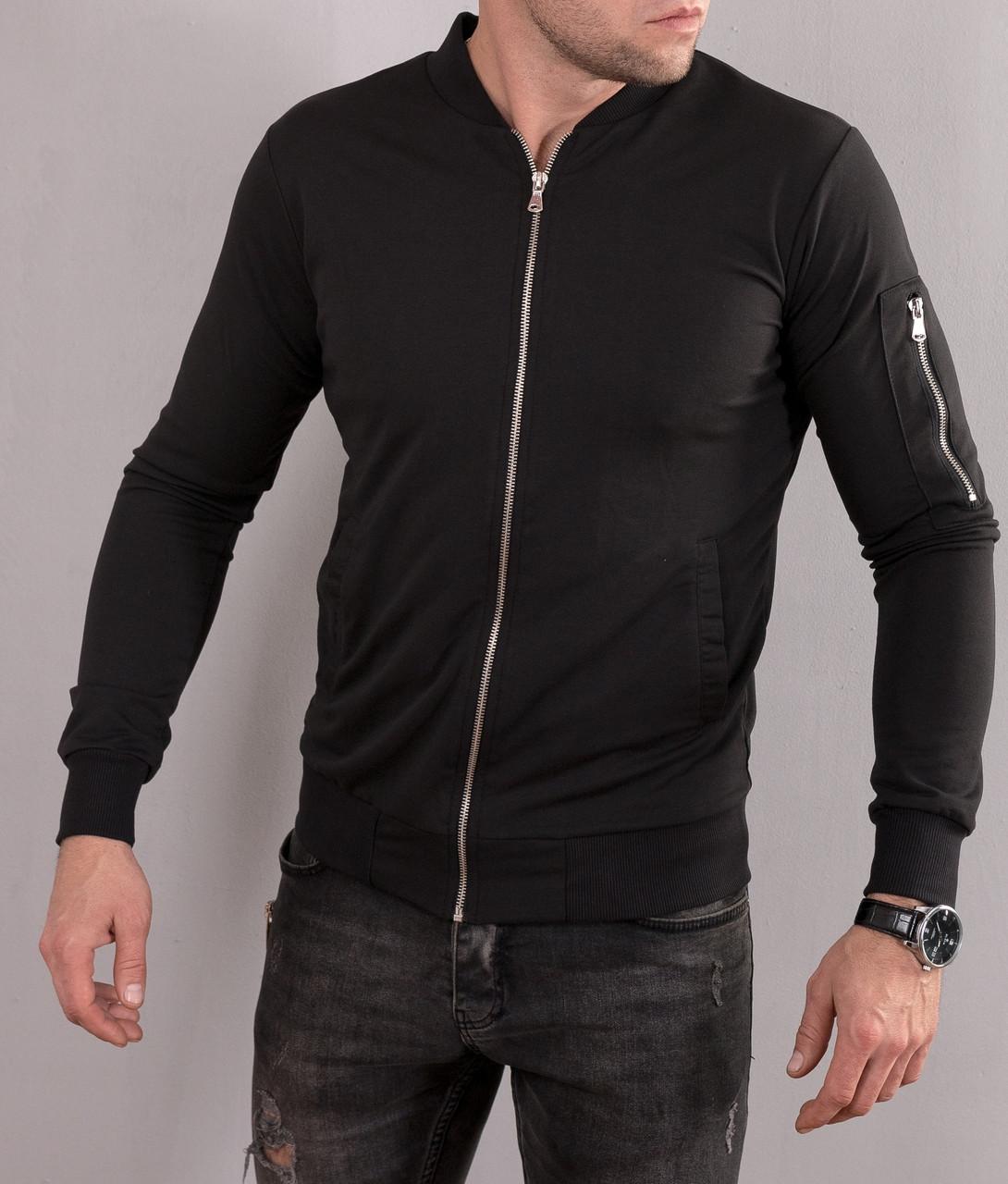 55cb5e7b140 Куртка мужская бомбер   летняя   весенняя   черная  продажа