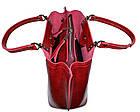 Женская бордовая сумка (21*27*13) , фото 4