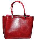 Женская бордовая сумка (21*27*13) , фото 2