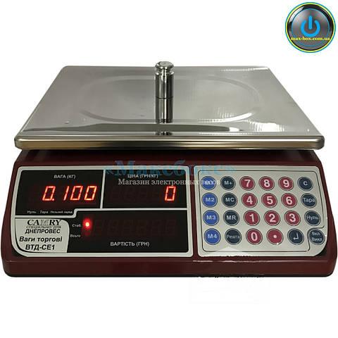 ВТД-СЕ1 Торговые весы с поверкой до 15 кг