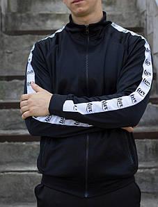Мастёрка, олимпийка, мужская спортивная кофта Smoke (Смок) чёрная