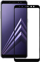 Защитное стекло 5D Samsung A7 (2018)/A750, чёрное