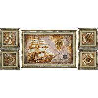 """Набор для вышивки нитками на канве с фоновым изображением """"Морское путешествие"""", фото 1"""