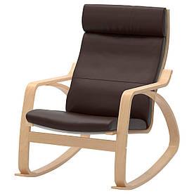 IKEA POANG (498.610.07) Хитний стілець, ok birches, Robust Glose ecru