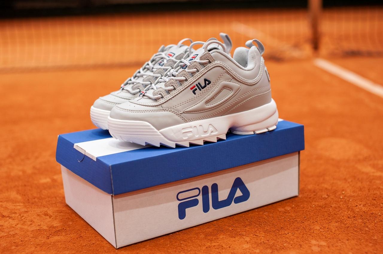Женские весенние кроссовки Fila Disraptor 2 (gray), женские кроссовки фила дасраптор 2