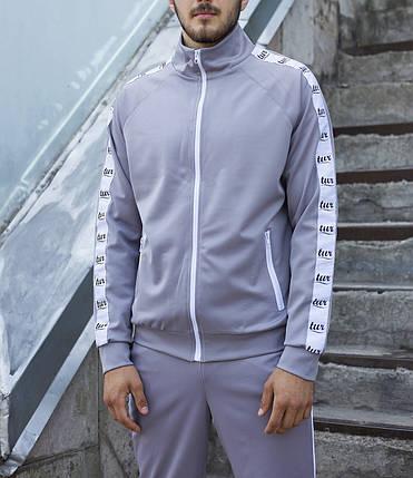 Мастёрка, олимпийка, мужская спортивная кофта Smoke (Смок) серая, фото 2