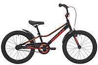 """Детский велосипед Pride Flash 20"""" черно-красный"""