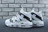 Мужские кроссовки Nike Air More Uptempo Off White 2018 White/Black. Живое фото (Реплика ААА+), фото 8