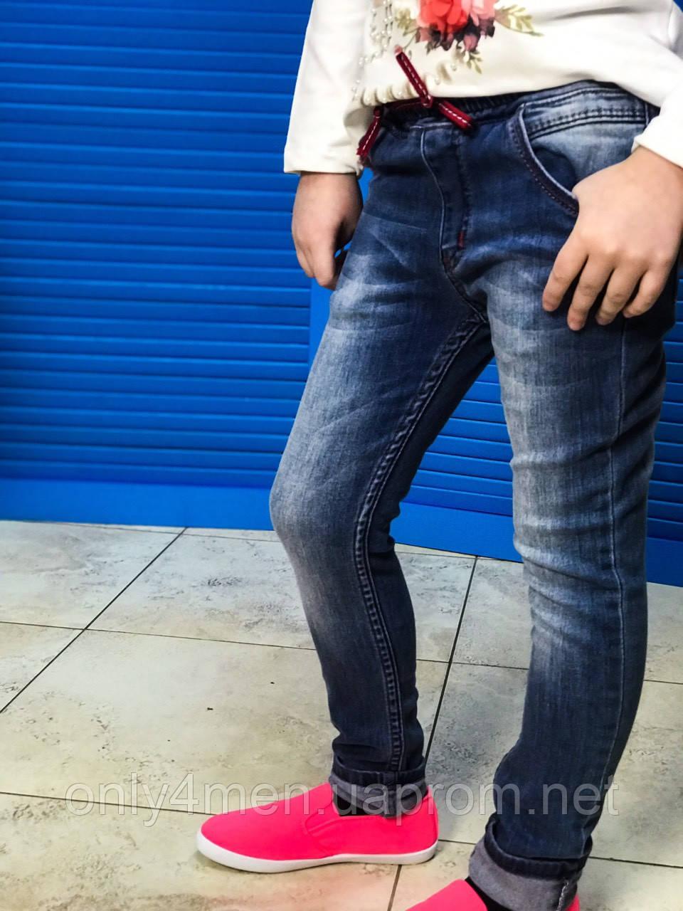 Джинсы на резинке, одежда для девочек 6-10 лет