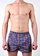 Мужские  трусы боксеры из поплина C+3 #0055  L красные с синим