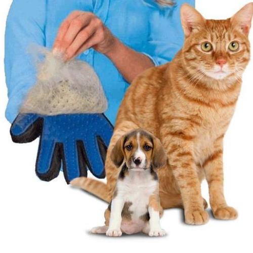 Перчатка для вычесывания шерсти Pet Brush кота, собаки