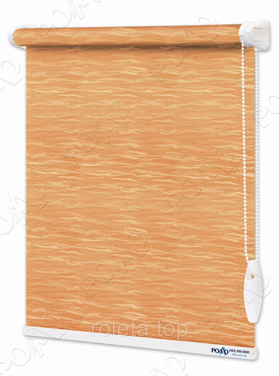 Рулонные шторы Лазурь Оранжевые