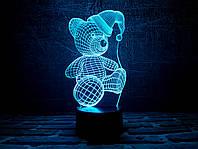 """Сменная пластина для 3D светильников """"Мишка (новогодний)"""" 3DTOYSLAMP"""