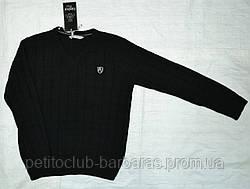 Теплий класичний пуловер для хлопчика однотонний чорний (InCity, Туреччина)