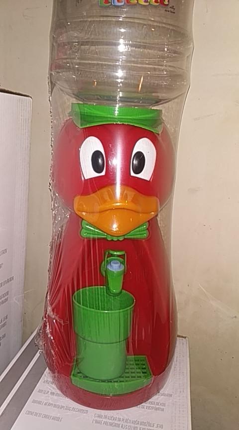 Кулер детский/ Диспенсер для воды Утка 2,5 л Красный с салатовым