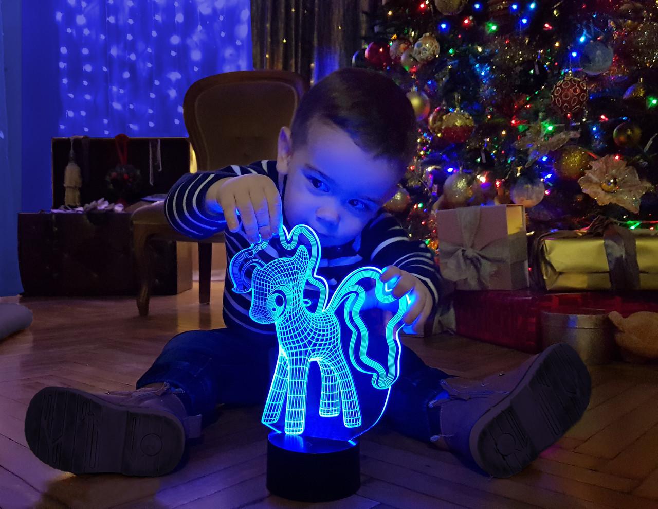 """Ночник - светильник детский """"My Little Pony"""" 3DTOYSLAMP"""