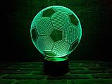 """Детский ночник - светильник  """"Футбольный мяч"""" 3DTOYSLAMP, фото 2"""