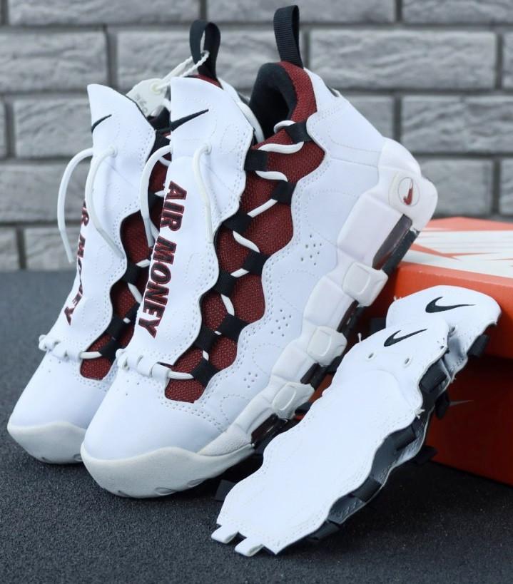 """Мужские кроссовки Nike Air More Money 'White & Black"""". Живое фото (Реплика ААА+)"""