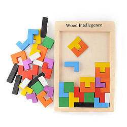 Игра Тетрис Дерево Головоломка Танграм пентамино Логические Детские Игрушки Wood