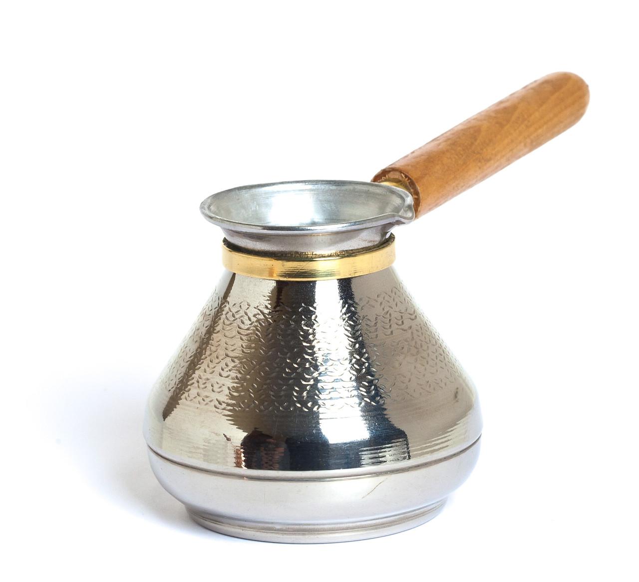 Турка медная Ладья (120мл) серебро