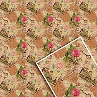 Подарочная упаковочная крафт бумага для цветов и подарков 70*100 см (10 шт)