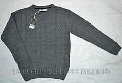 Теплий класичний пуловер для хлопчика однотонний сірий (InCity, Туреччина)