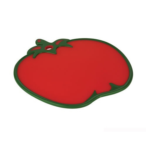 Доска кухонная Томат, прорезиненная, антискользящая, 30х30 см, пластик, красный