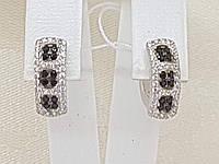 Серебряные серьги Флейм с фианитами. Артикул 2181/1Р-CZ, фото 1