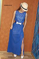 Шифоновое платье с перфорацией в пол, р. 42-44, S