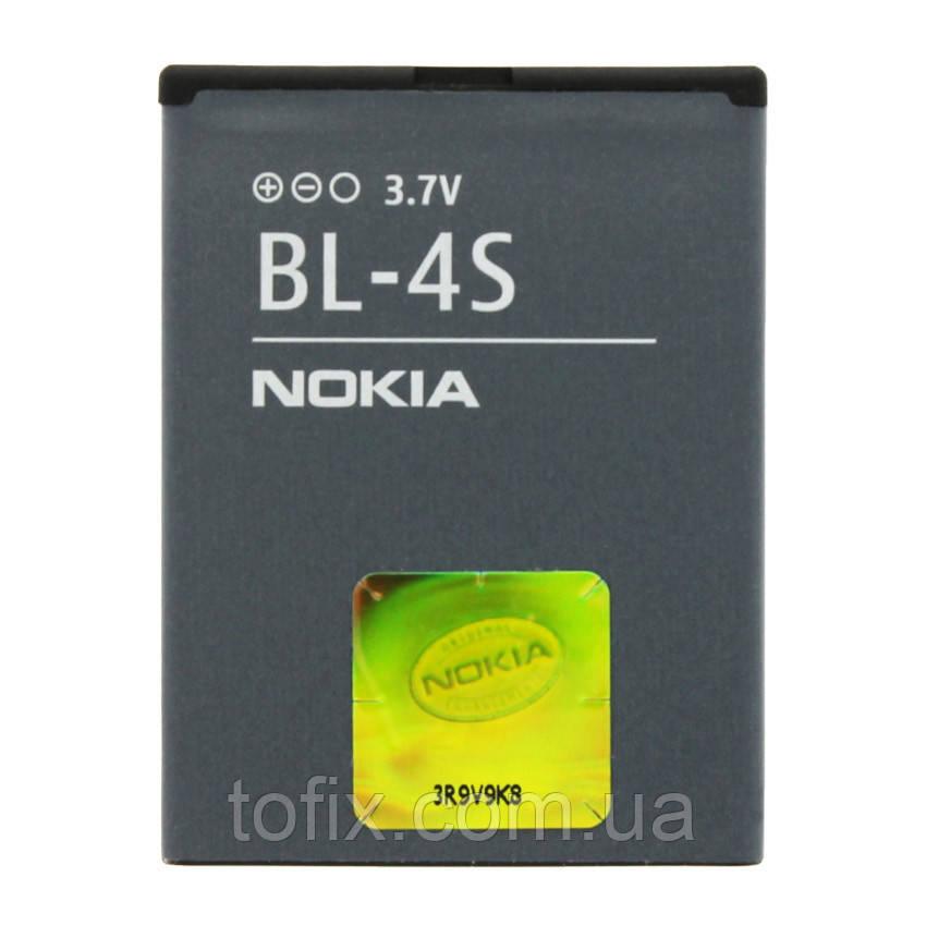 Батарея (акб, аккумулятор) BL-4S для телефонов Nokia, 860 mAh, оригинал