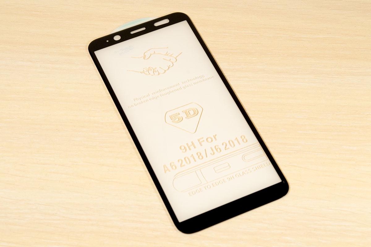 Защитное стекло 5D для Samsung Galaxy A6 2018 (Black)