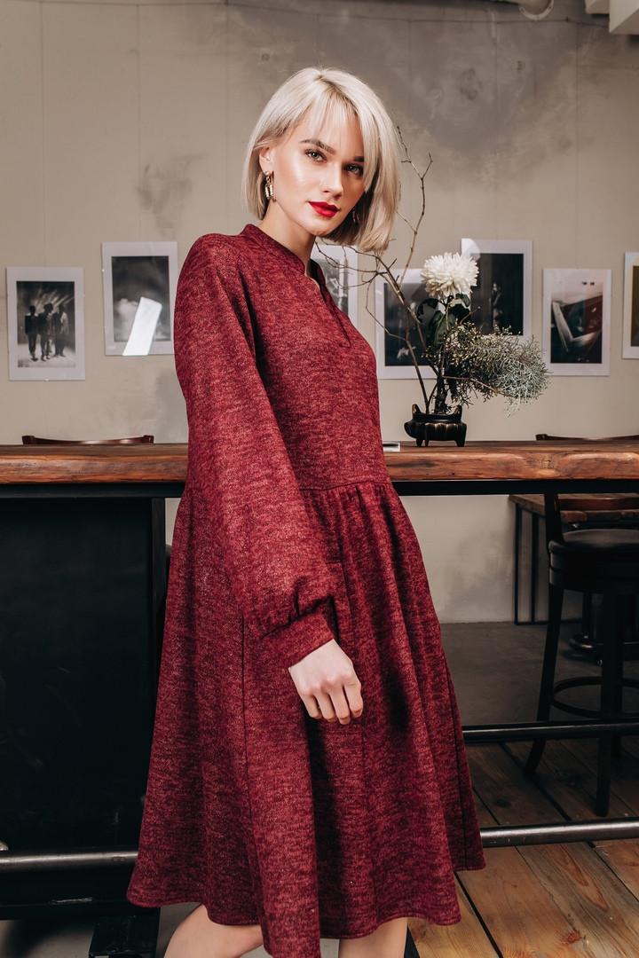 Платье из трикотажа ангоры с карманами, в стиле oversize / 5 цветов арт 8400-613