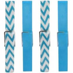 Прищепки, набор 10 штук, синий/разноцветный