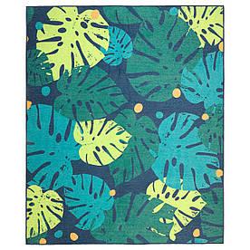 IKEA URSKOG (003.939.03) Ковер тканый плоский, листья, зеленый
