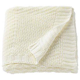 IKEA JENNYANN (503.537.73) Плед, белый