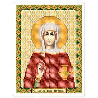 """Ткань со схемой для вышивки иконы бисером """"Св. Равноап. Мария Магдалина"""""""