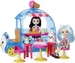 Набор Кукла Enchantimals Прина Пингвин и Белый медвежонок Фургон с холодными лакомствами FRT96