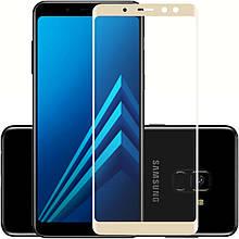 Защитное стекло 5D Samsung A8+(2018)/A730